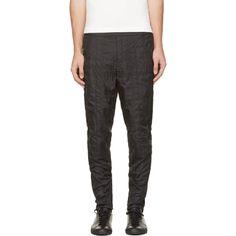 Alexander Wang Black Nylon Elastic Waistband Track Pants
