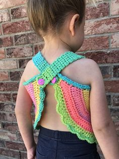 Crochet Stitches Patterns, Crochet Designs, Baby Patterns, Knitting Patterns, Crochet For Kids, Crochet Baby, Crochet Top, Swing Top, Summer Clothing