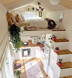 tiny house decor, tiny house design, tiny house interior, modern living room, living room decor We like spacious and airy interiors but the truth is a large house poses high demands in terms of costs and general maintenance Design Living Room, Design Room, Small Room Design, Loft Design, Design Bathroom, Design Case, Tiny Loft, Tiny Tiny, Tiny House With Loft