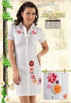 Resultado de imagen para vestidos bordados