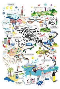 209 besten Illustrated Maps Bilder auf Pinterest | Illustrated maps ...