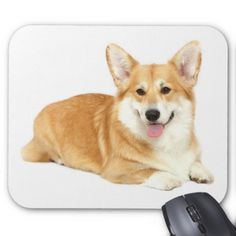 #Love Pembroke Welsh Corgi Puppy Dog Red Hearts Mouse Pad - #pembroke #welsh #corgi #puppy #dog #dogs #pet #pets #cute #pembrokewelshcorgi