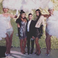 Striking: Kourtney Kardashian looked incredibly stylish dressed as the Great Gatsby at her mum's bash