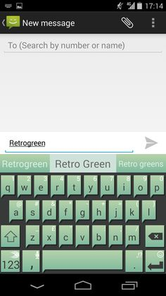 Retro Green theme for SwiftKey Keyboard for Android.