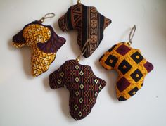 Your place to buy and sell all things handmade African Fabric Ornaments Brown Orange African by SGArtandFashion African Holidays, African Christmas, International Craft, African Princess, African Crafts, Creative Textiles, Afro, Fabric Ornaments, Thinking Day