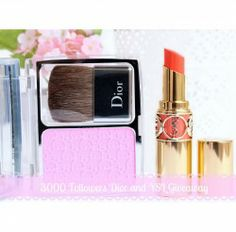 Win Dior and YSL products ^_^ http://www.pintalabios.info/en/fashion_giveaways/view/en/1612 #International #MakeUp #bbloggers #Giveaway