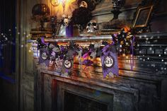 Celebrate It™ Victorian Goth Halloween mantel - Michaels craft store items
