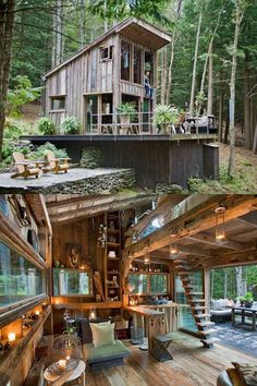Otro material que me gusta la madera, pero eso significa, tala de arboles.!! es un dilema