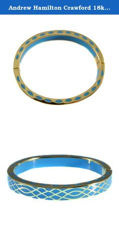 Andrew Hamilton Crawford 18k Gold Plated Infinity Bracelet in Turquoise Colored Resin. It is the little details in everyday life that have lead to the charismatic collection of Andrew Hamilton Crawford; says New York designer Chad Crawford. Each piece is not only a piece of jewelry, but a timeless work of art that is to be worn by all generations. Known for its top-knotch quality and vivid array of color, Andrew Hamilton Crawford has gained attention for the creation of a unique and...