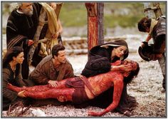 Passion of Christ, He was laid in His Mothers arms after being tortured and crucified, all to save us! As a mother, I can't even conceive the pain and agony that Both, Jesus and His Mother went through--please God help me to be more worthy of Their sacrifice!