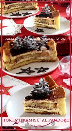 TORTA TIRAMISU' CON PANDORO: un golosissimo ed irresistibile #dolce al cucchiaio, facilissimo e super #veloce, e si prepara in pochissimi minuti, si dovrà solo aspettare il riposo in frigorifero per far si che la torta si assesti e si aromatizzi per bene.   #ricetta #recipe #tiramisu #nataleatavola #nataledafare #pandoro #ricettafacile #ricettaveloce #dessert #mascarpone #caffe #xmas #christmas #happyholiday #festa #capodanno #cenone Dolce, Waffles, Good Food, Dessert, Breakfast, Recipes, Mascarpone, Morning Coffee, Deserts