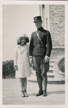 Princess Marie Jose with her father, King Albert I of the Belgians.