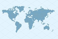 Vector of World Map in Dot Style in Winzip File Available in : + JPEG Vector Pattern, Background Patterns, Dots, Map, World, Vectors, Theater, Backgrounds, Style