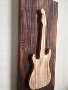 Electric Guitar  Rustic Wood Wall Decor on by shoponelove on Etsy, $75.00