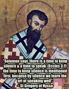 St Gregory of Nyssa on speech Catholic Quotes, Church Quotes, Religious Quotes, Orthodox Prayers, Orthodox Christianity, Father Quotes, Bible Quotes, Early Church Fathers, Saint Gregory