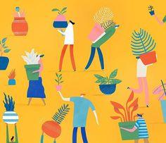 WEBSTA @ markconlan - How about a yellow version? 🌿🌻🚶♀️☀️.....#art #artist #artwork #bestoftheday #creative #creativity #notebook #sketch #sketchbook #designer #instagram #instagood #books #instalike #instamood #instadaily #illustree #illustrator #illustration #illustrationartists #like #melbourne #markconlan #print #paper @picame @thedesigntip