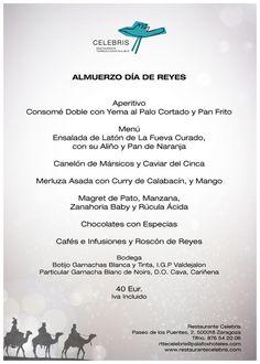 Menú de Reyes 2017