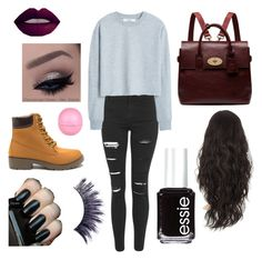 """""""Untitled #7"""" by mina-mcgill on Polyvore featuring Topshop, MANGO, Mulberry, River Island, Essie and Manic Panic"""
