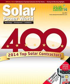 The Solar Power World Top 250 The Top Solar Contractors In Texas Solar Power Solar Solar Panel System