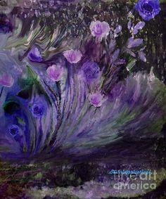 blowing In The wind, beautiful purple flowers