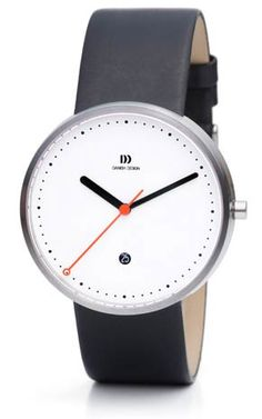 Danish Design: DD IQ12Q723 Steel White/Orange Minimalist $240