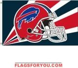 last 2 - BUFFALO BILLS HELMET DESIGN 3X5 FLAG