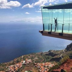 Looking at the view of Tenerife. Hiking from Tenerife to La Gomera tour. #Regram via @tenerife.canary.islands