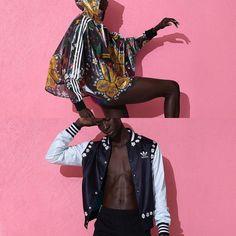 """@pharrell & @adidas se unieron para crear por segunda vez """"Pink beach""""  La colección que estará pronto disponible en tiendas recopila el espíritu soleado colorido y divertido del artista. Les gusta? #Staycurious  Photo source: hypebeast #TheCourtFashion"""