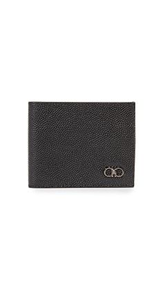 Salvatore Ferragamo Mens 1041 Leather Tri Fold Wallet Black One Size ** Read more reviews of the product by visiting the link on the image. Note: It's an affiliate link to Amazon #Leathermenswallet