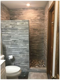 Bathroom Design Small, Bathroom Layout, Bathroom Interior Design, Small Narrow Bathroom, Rustic Bathrooms, Dream Bathrooms, Master Bathroom Shower, Rustic Bathroom Shower, Small Bathroom Showers