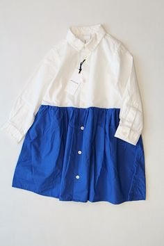 バイカラードレス/ブルー(65) - 100% picnic.