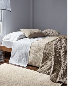 Eileen Fisher Rippled Organic Cotton Coverlet and Shams - Garnet ... : organic quilts and coverlets - Adamdwight.com