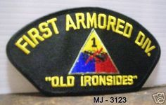 US Army First Armored Division Embroidered Patch