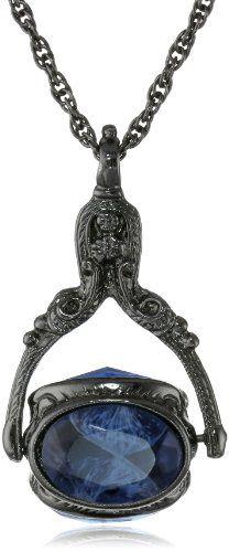 "1928 Jewelry Vintage-Inspired Rotating Jet Sapphire Crystal Necklace, 30"" 1928 Jewelry,http://www.amazon.com/dp/B009CA07BQ/ref=cm_sw_r_pi_dp_7elgtb0V1KTA3E5Y"