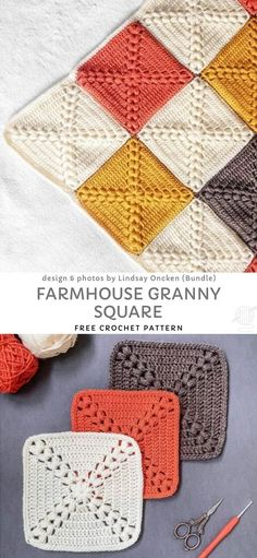 Fun and Easy Granny Blankets. This beautiful granny square will make the most stunning blanket. You can make those little squares in any color combination you want, they will be very original and unique. Easy, works up fast and the result is amazing! Point Granny Au Crochet, Granny Square Pattern Free, Crochet Blocks, Granny Square Crochet Pattern, Afghan Crochet Patterns, Crochet Square Blanket, Free Crochet Square, Easy Granny Square, Knitting Squares