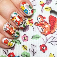 Time for a manicure Sunday?! We can't get enough of this #nailart by @hannah_nails_it of our autumnal Squirrels print!