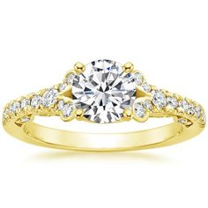 18K Yellow Gold Adelina Diamond Ring (1/3 ct. tw.) from Brilliant Earth