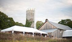 Outdoor tent wedding at Woodwalk Gallery | Door County Event Planners