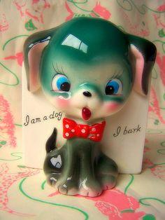 its hard work making a cute kitsch christmas  I'm a dog! I bark!
