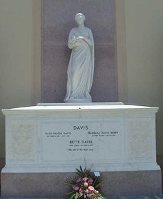"""Bette Davis, Forest Lawn, Los Angeles, CA (""""She did it the hard way"""")"""