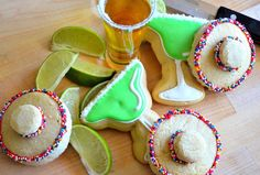 Mexican Tequilla and Sombrero Cookies