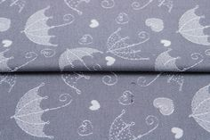 Umbrellas Silver #weavingstudio #fabricart #cottonfabric #umbrella  #grey #silver