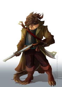 m Half Dragon Ranger Cloak Sword rifle midlvl DnD player characters , Ioana Muresan on ArtStation at https://www.artstation.com/artwork/bZ2Kr