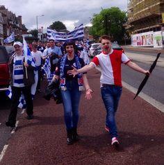 """ marching through Harlsden Queens Park Rangers Fc, Rangers Football, Club, Group, Twitter, Board"