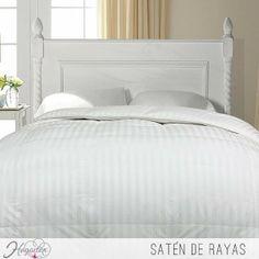 Juego de cama Satén a rayas  Crea ambientes únicos en tu dormitorio, combiando la suavidad y la textura en tu juego de cama. ...