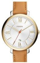 Shop for Fossil Women's 'Jacqueline' Brown Leather Watch - Gold. Get free delivery On EVERYTHING* Overstock - Your Online Watches Store! Brown Leather Strap Watch, Tan Leather, Fossil Jacqueline, Fossil Jewelry, Jewelry Watches, Fossil Watches, Wrist Watches, Leather Jewelry, Tans