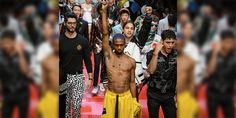7557a229beef Alternative rapper Raury protested Dolce   Gabbana s Spring-Summer  18  runway show this past
