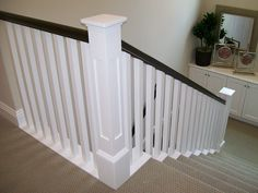 Best Ebony Stain And White Craftsman Stair Railings I Love 640 x 480