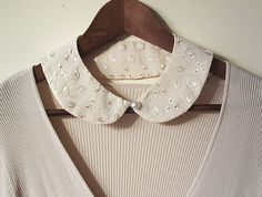 told ya so! - back to school bip collar necklace-faux collar-sand beige bip necklace