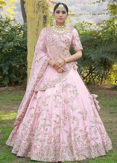 835 Baby Pink Malai Satin Wedding Choli Attractive Gorgeous Look Traditional Occasionally Fashion Party Wear Indian Bride Fashion Heavy Lehenga Choli Singles Wholesale Supplier from Surat in Best Price @ INR Indian Bridal Outfits, Indian Bridal Wear, Pakistani Bridal, Indian Dresses, Bridal Dresses, Lehenga Wedding, Party Wear Lehenga, Bridal Lehenga Choli, Indian Lehenga
